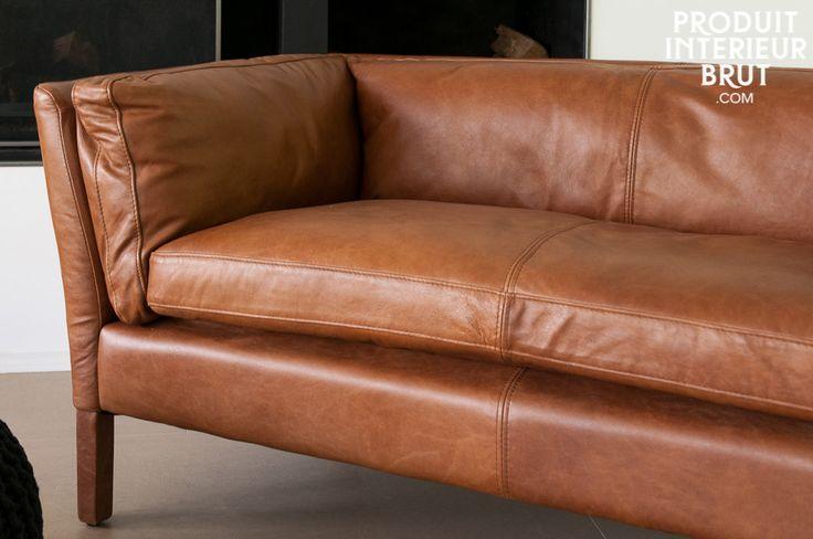 1000 id es sur le th me d coration de canap en cuir sur pinterest canap s - Canape cuir vintage convertible ...