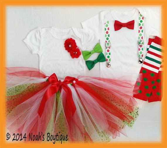 Brother Sister Christmas Outfit - Boy Girl Matching Christmas ...