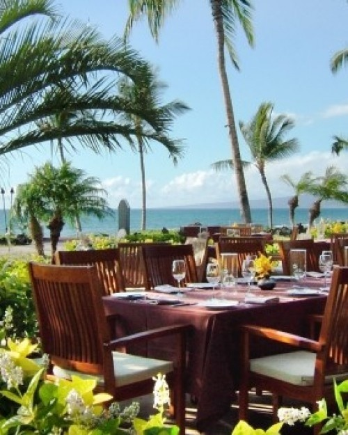 Ill be eating breakfast here every morning for the neat week. ahhhhh.  The Mauna Lani Bay Hotel  ( Kohala Coast, Hawaii )  CanoeHouse restaurant is a great place to linger over a drink and fresh grilled mahi mahi. #Jetsetter #JSBeachDining