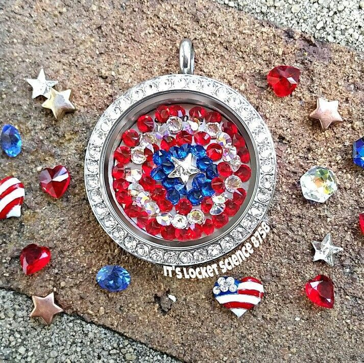 Happy 4th of July! Origami Owl locket carri.origamiowl.com
