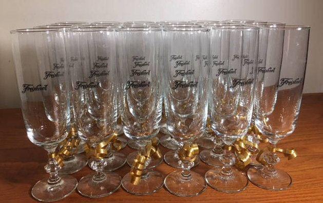 Freixenet Champagne Glasses- France- Set of 24 glasses by LazyHoundVintage on Etsy