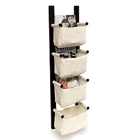 This unit can be hung horizontally or vertically.: Canvas Bags, Idea, Storage Racks, Wall Mount, Magazines Storage, Magazines Racks, Canvas Baskets, Magazine Racks, Magazine Storage
