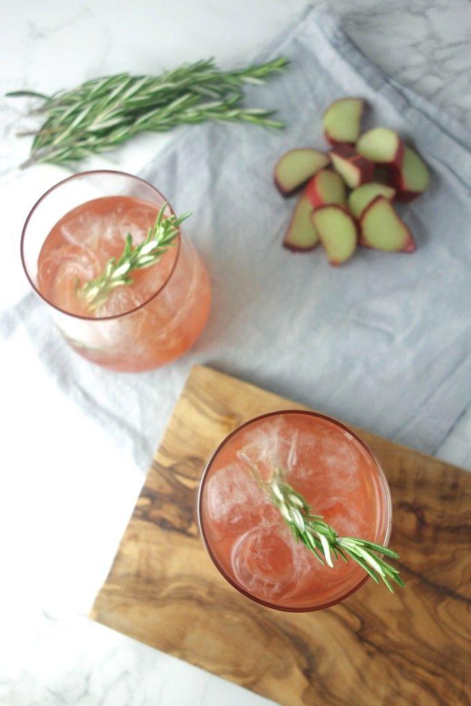 Rhubarb Elderflower Gin Cooler - A Dash of Ginger