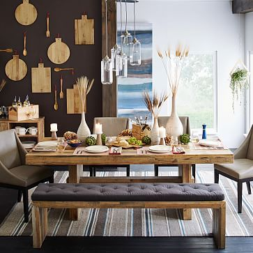 1000 Ideas About Dining Table Bench On Pinterest