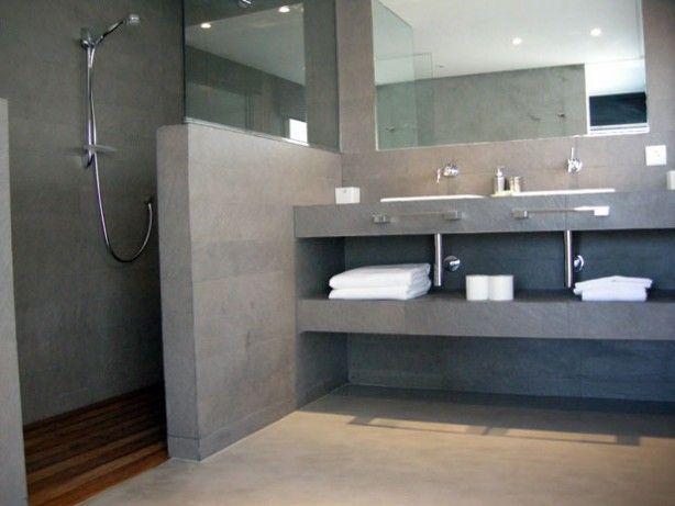 Badkamer halve douche