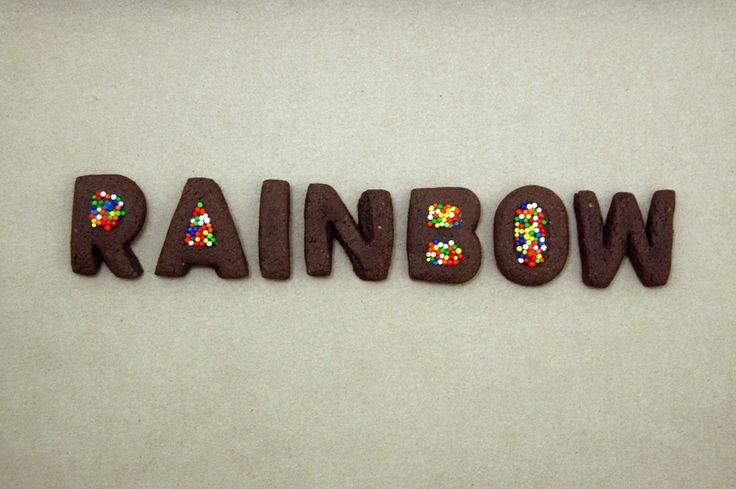 RAINBOW !   Probando mis nuevos cortadores alfabéticos :3