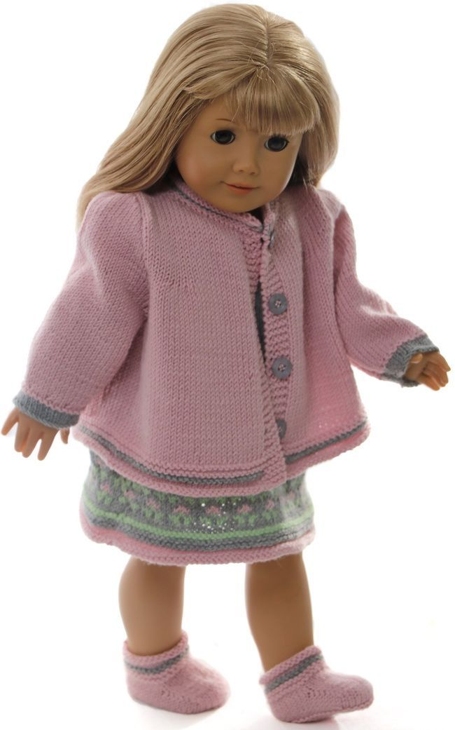18 inch doll dress knitting pattern