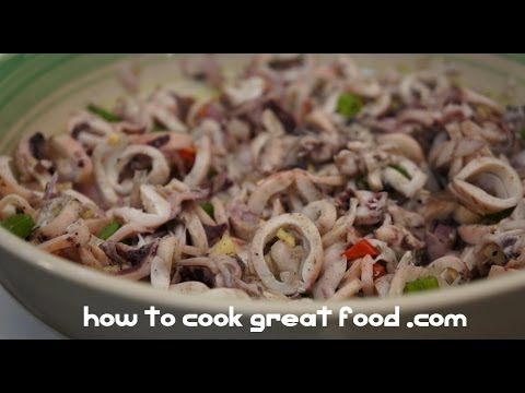 Recipe Videos - Kinilaw na Pusit recipe - Squid Salad Pinoy Style Filipino Cooking