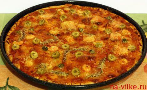 Пицца начинка с креветками