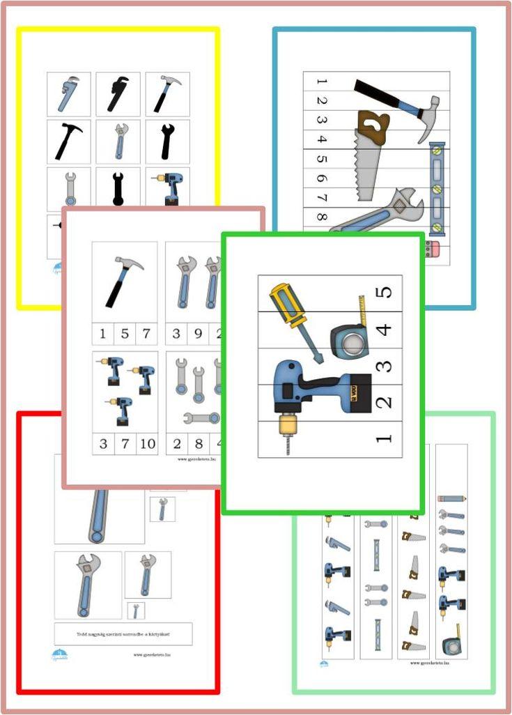 Tellen en puzzelen met plaatjes van gereedschappen. Dat gaan technici-in-de-dop wel waarderen!