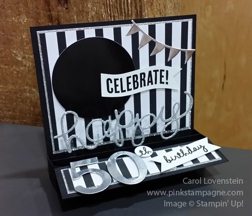 50th Birthday Modified Card-in-a-Box; Designed by Carol Lovenstein; Occasions Catalog;  Stampin' Up! Card Idea