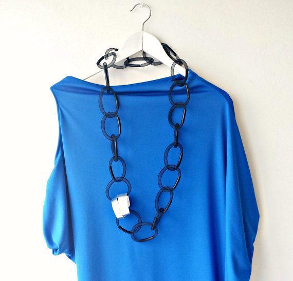 Lange verklaring ketting - hedendaagse sieraden - populaire halsketting - Chunky ketting verklaring - unieke kettingen voor vrouwen.