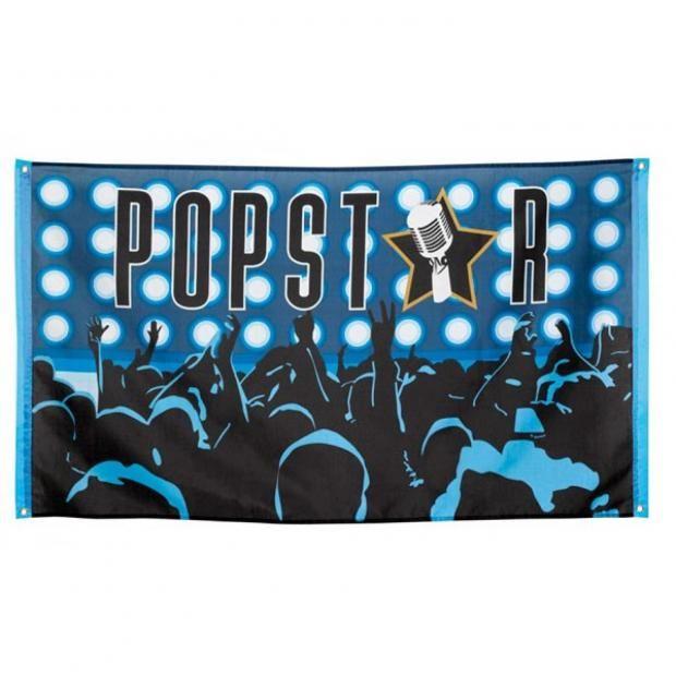Popstar Flagge 90x150 Mottoparty Fahne Deko Fanparty Sänger