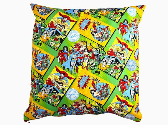 DC Superhero Cushion Cover including Superman Batman and