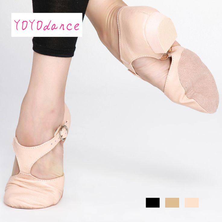 Black tan pink leather teacher jazz dance sandal shoes for  Teachers Professional sandals shoes jazz dance shoes 5353