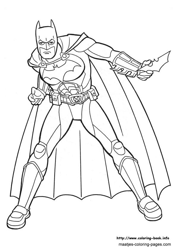 Batman Issued Weapons Coloring Pages For Kids Printable