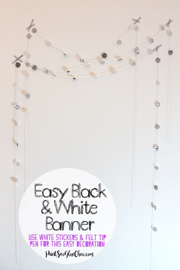 Incredibly Easy Black and White Banner
