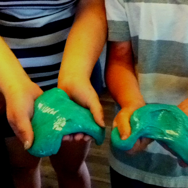 Made slime with my little brother: Little Brother
