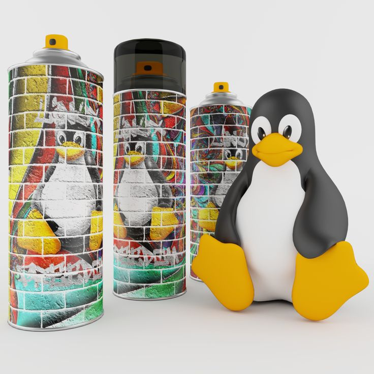 This 3D model of a Spray Paint Can & Linux Penguin (tux) is a photo-realistic models that will bring an expert level of realism to any of your design projects.
