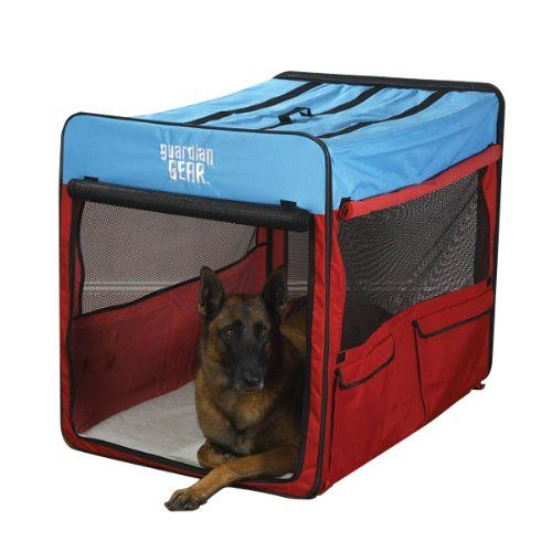 Guardian Gear Collapsible Dog Crate, X-Large, Red/Blue - http://www.thepuppy.org/guardian-gear-collapsible-dog-crate-x-large-redblue/