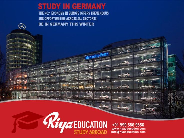 Abroad Education in Germany - No.1 Economy in Europe!!!!! The best place to study.Students who wish to study in Germany get in touch with Riya Education.   #eu #europe #higher education #bangalore #india #foreign #free