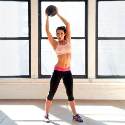 Try this medicine ball workout to tone and sculpt your entire body. This workout is quick, effective and will give you results. Get slim and build muscle with this fat-burning workout routine.