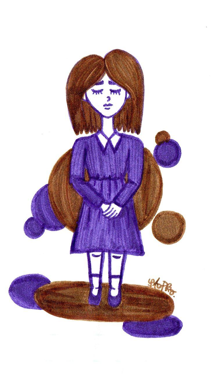 IG: @maggie_creates_  purple brown marker drawing cute