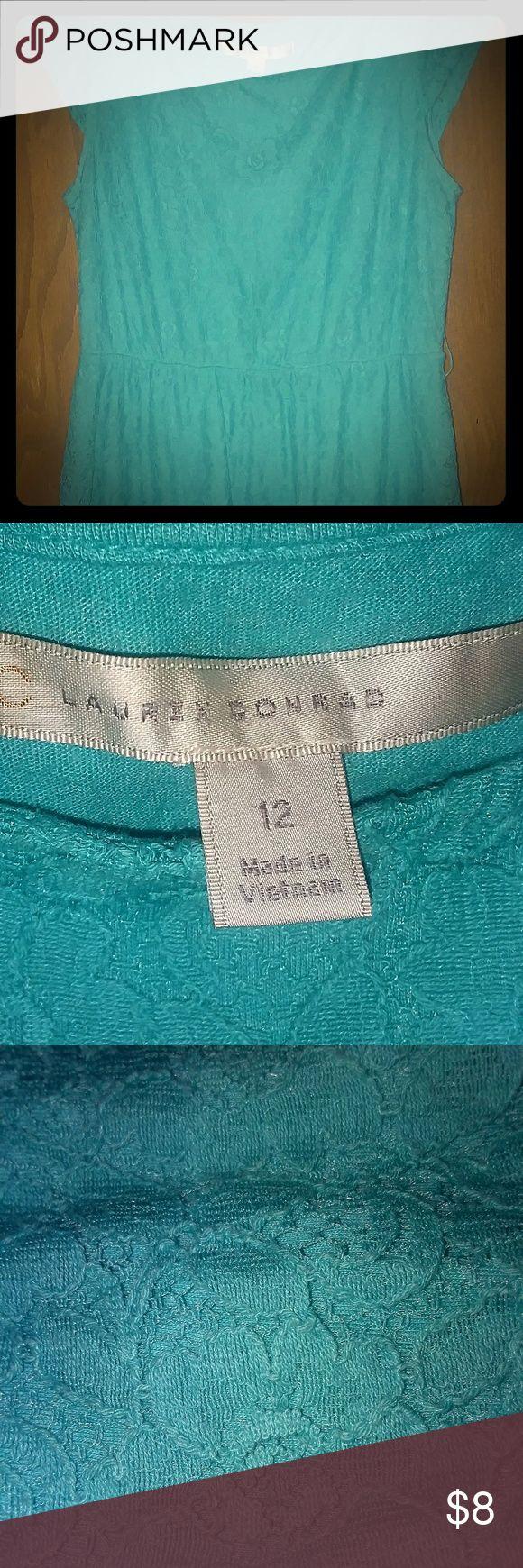 Girl's Dress Pretty light teal ombre short sleeve summer dress. laura conrad Dresses Casual