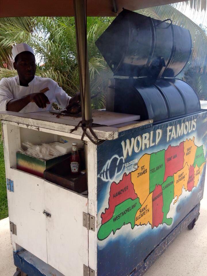 Chicken jerky at Secrets Wild Orchid resort in Montego Bay Jamaica.