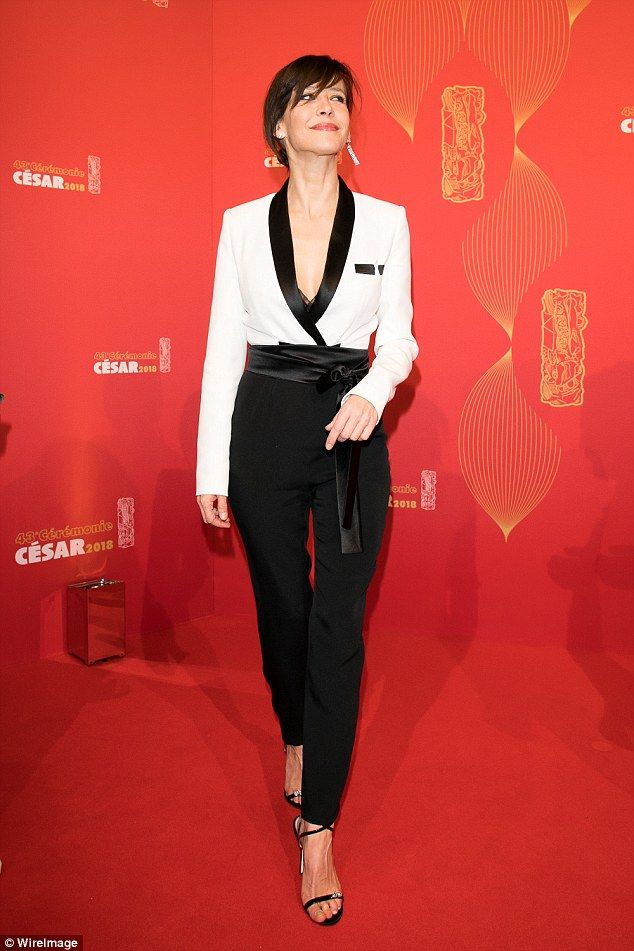 Eternal: Sophie Marceau, 51, ensured all focus on herself as she attended the 43rd Cesar Awards Ceremony in Paris on Friday evening