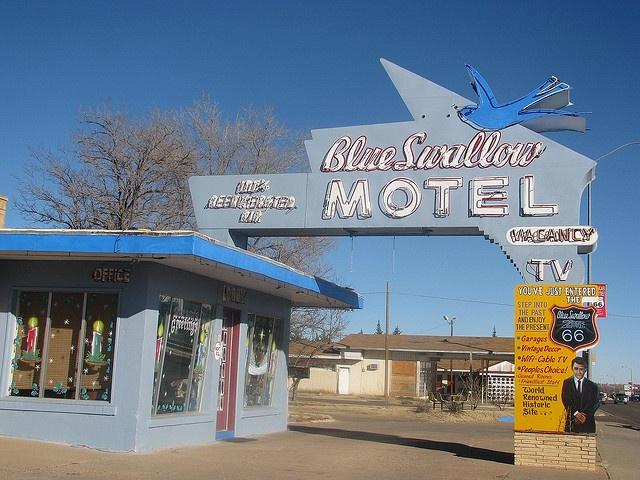 Blue Swallow motel. Tucumcari, New Mexico.