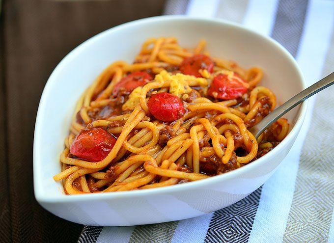 Filipino-style Spaghetti - Kawaling Pinoy