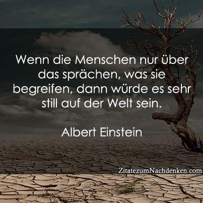 """""""Wenn die Menschen nur über das spräche, was sie begreifen, dann würde es sehr still auf der Welt sein."""" (Albert Einstein)"""
