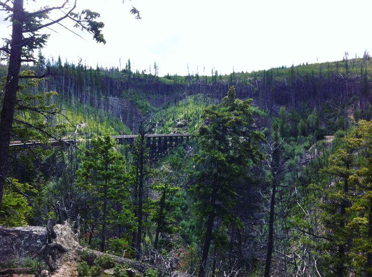 Myra Canyon Kettle Valley Railroad in the Okanagan BC by NyxStudioArt