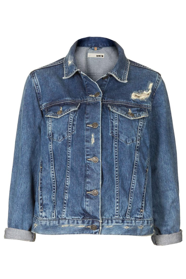 MOTO Vintage Wash Denim Jacket