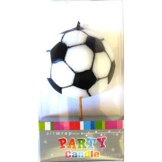 Soccer Ball Candle Pick - Sports Party Cake Decoration Party Supplies