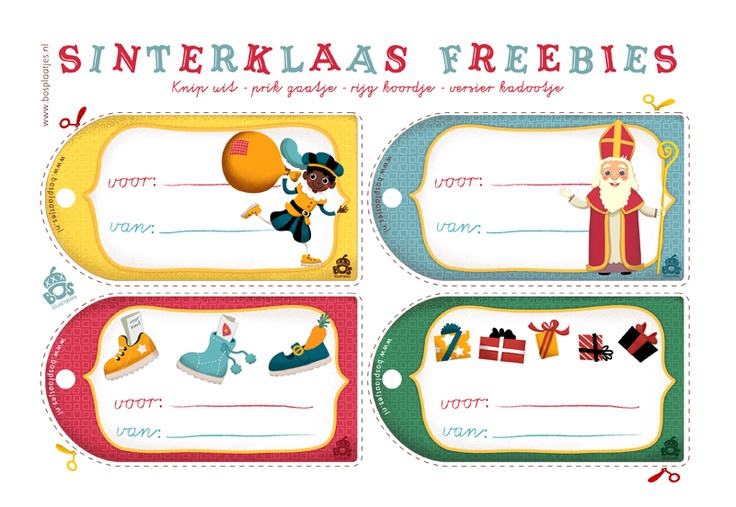 Sinterklaas Freebie Gift Tags......love them!