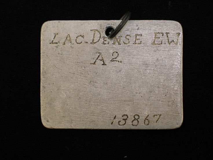 This Japanese prisoner of war ID tag had belonged to Leading Aircraftsman Ernest William Dense while in Changi Prison. From the collection of the Air Force Museum of New Zealand.