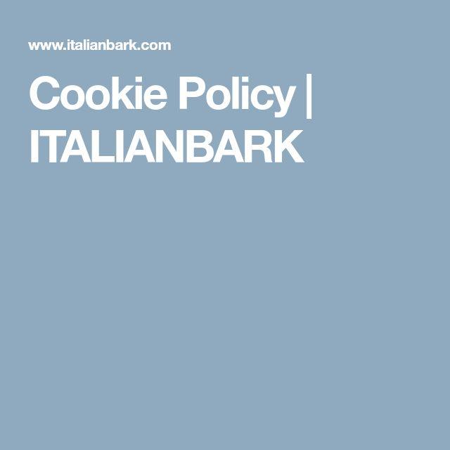 Cookie Policy | ITALIANBARK