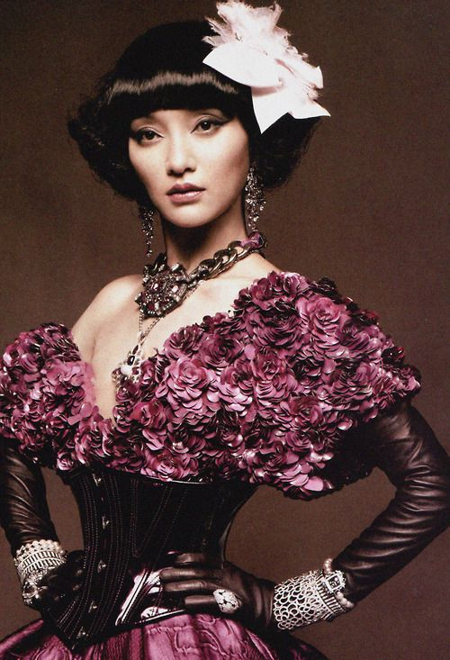 "Zhou Xun in ""Back to Grace"" for Vogue China January 2013 photographed by Karl Lagerfeld"