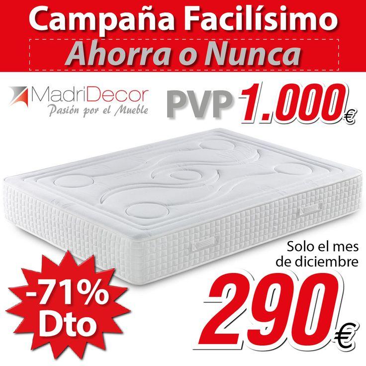 ¡¡¡Colchón viscoelástico de 1,35cm por 290€!!! Promoción ampliada hasta el 31/01/15