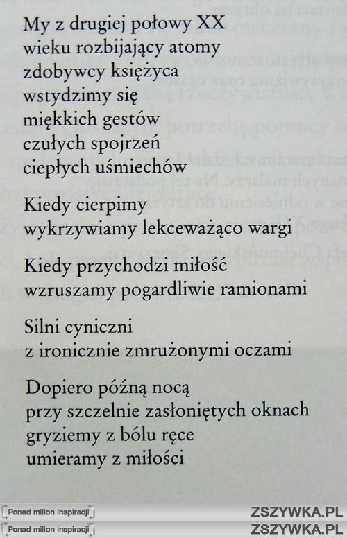 Małgorzata Hillar- My z drugiej połowy XX wieku