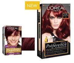 Loreal red hair dye colors