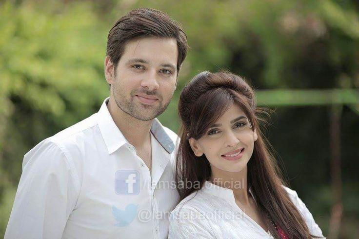 "Mikaal Zulfiqar and Saba Qamer shooting for the new upcomming drama ""Sangat"""