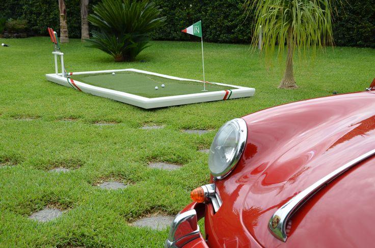 Golf In vestito di bianco