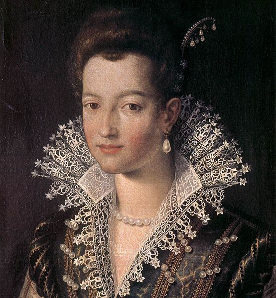 "Portrait of the Young Maria de' Medici, Santi di Tito (Italian, 1536-1603) ~ Santi di Tito was one of the most influential and leading Italian painters of the proto-Baroque style – what is sometimes referred to as ""Counter-Maniera"" or Counter-Mannerism."