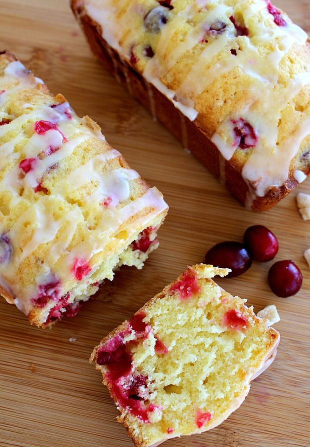 Fresh cranberries, lemon zest and crystallized ginger combine in a moist quick recipe and drizzled with citrus glaze for a really good cranberry bread.