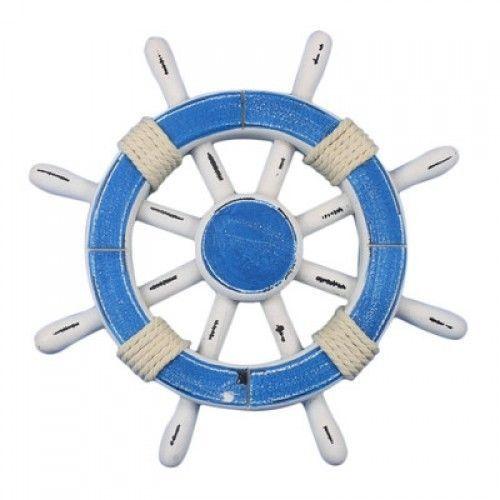 Nautical Style Bathroom Decoration Wall Hanging Ships Wheel Rustic Ship Wheel #HandcraftedNauticalDecor