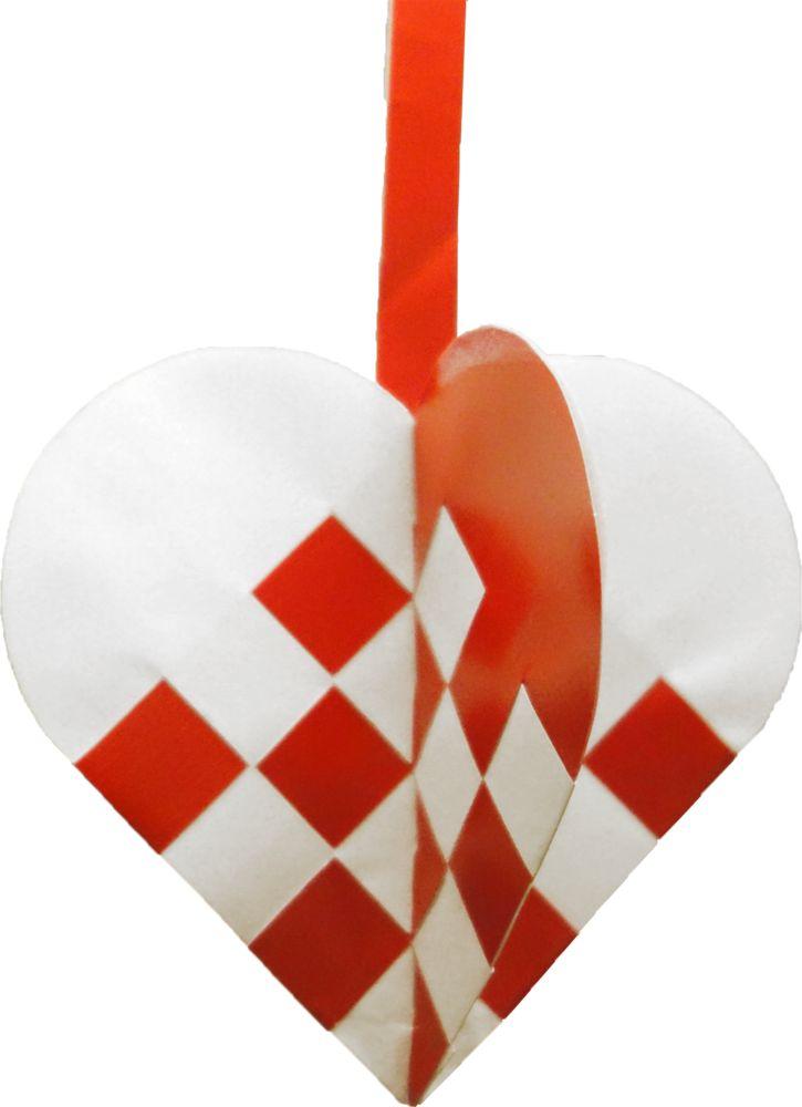 Krydsende julehjerter | Julehjertedesign.dk: skabeloner til flotte og unikke julehjerter til juletræet. Traditional Danish Christmas hearts for unique paper art.