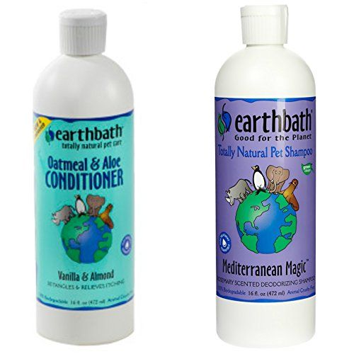 Earthbath Mediterranean Magic Rosemary Scented Deodorizing Shampoo for Dogs and Cats, 16 Ounces, and Earthbath Oatmeal and Aloe Conditioner for Dogs and Cats, Vanilla and Almond Scent,16 Ounces *** Check out this great product.